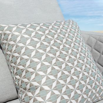 Outdoor Fabric Mosaic Scatter Cushion / Glacier
