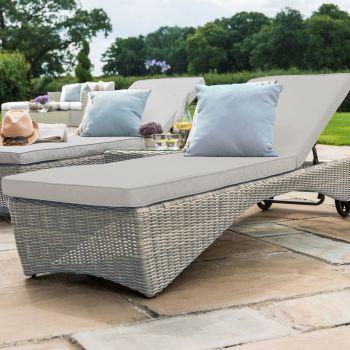 Maze Rattan - Oxford Sunlounger Set