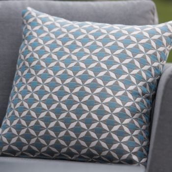 Outdoor Fabric Mosaic Scatter Cushion / Blue