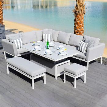 Outdoor Fabric Pulse Rectangular Corner Dining Set