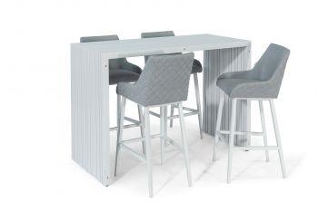 Outdoor Fabric Regal 4 Seat Rectangular Bar Set