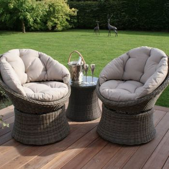 Maze Rattan - Winchester Swivel Lounge Set - simple