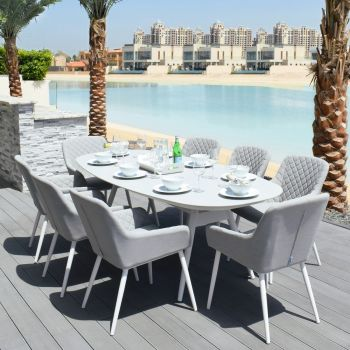 Outdoor Fabric Zest 8 Seat Oval Dining Set