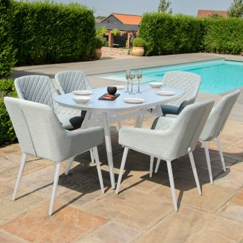 Outdoor Fabric Zest 6 Seat Oval Dining Set
